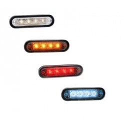 FEU 4 LEDS ORANGE ENCASTRABLE