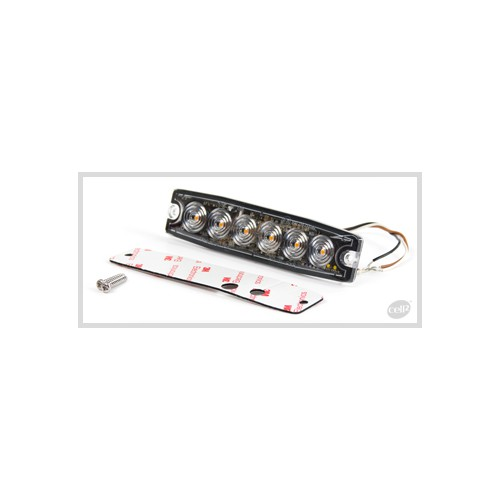 FEU FLASH BLANC 6 LED EXTRA PLAT