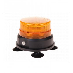 GYROPHARE LED ORANGE AIMANTE AVEC BATTERIE